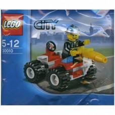 LEGO 30010  City Brandweerman met Quad