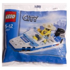 Lego 30017 City Politie Town Mountain Police Set Police Boat Marine