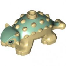 LEGO 67443pb01 Dinosaur Ankylosaurus Baby with Sand Green Back and Black Eyes Pattern