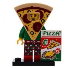 LEGO 71025 Col19-10 Jongen in een Pizza Pak Compleet met accessoires