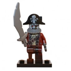 LEGO 71010 col14-2 Zombie Pirate - Complete Set