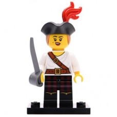 LEGO 71027 Col20-5 Pirate Girl, Series 20 (Complete Set with Stand and Accessories)