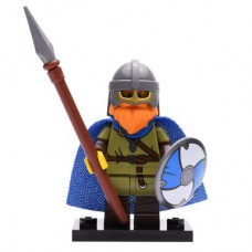 LEGO 71027 Col20-8 Viking, Series 20 (Complete Set with Stand and Accessories)