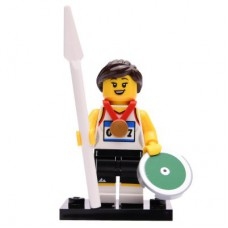 LEGO 71027 Col20-11 Athlete, Series 20 (Complete Set with Stand and Accessories)