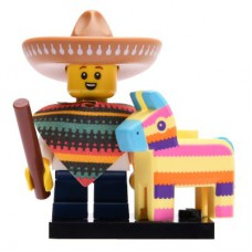 LEGO 71027 Col20-1 Piñata Boy, Series 20 (Complete Set with Stand and Accessories)