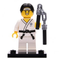 LEGO 71027 Col20-10 Martial Arts Boy, Series 20 (Complete Set with Stand and Accessories)