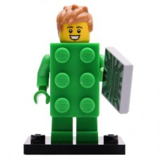 LEGO 71027 Col20-13 Brick Costume Guy, Series 20 (Complete Set with Stand and Accessories)