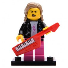 LEGO 71027 Col20-14 80s Musician, Series 20 (Complete Set with Stand and Accessories)