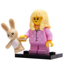 LEGO 71027 Col20-15 Pyjama Girl, Series 20 (Complete Set with Stand and Accessories)