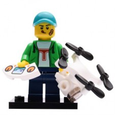 LEGO 71027 Col20-16 Drone Boy, Series 20 (Complete Set with Stand and Accessories)
