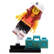 LEGO 71027 Col20-2 Breakdancer, Series 20 (Complete Set with Stand and Accessories)