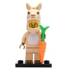 LEGO 71027 Col20-7 Lama Costume Girl, Series 20 (Complete Set with Stand and Accessories)
