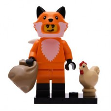 LEGO 71025 Col19-14 Meisje in Vossenpak Compleet met accessoires