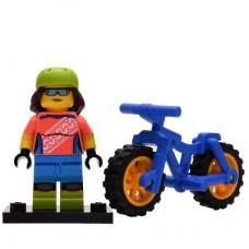 LEGO 71025 Col19-16 Meisje met Mountainbike Compleet met accessoires