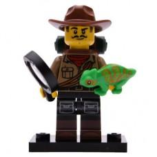 LEGO 71025 Col19-7 Jungle Onderzoeker met Leguaan Compleet met accessoires