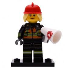 LEGO 71025 Col19-8 Brandweervrouw Compleet met accessoires
