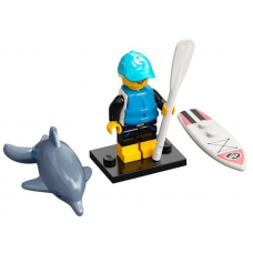 LEGO 71029 Col21-1 Paddle Surfer, Series 21 (Complete Set with Stand and Accessories)