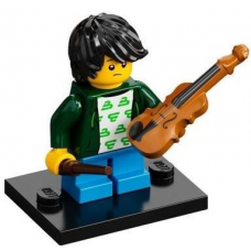 LEGO 71029 Col21-2 Violin Kid, Series 21 (Complete Set with Stand and Accessories)