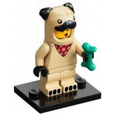 LEGO 71029 Col21-5 Pug Costume Guy, Series 21 (Complete Set with Stand and Accessories)