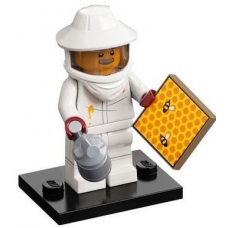 LEGO 71029 Col21-7 Beekeeper, Series 21 (Complete Set with Stand and Accessories)