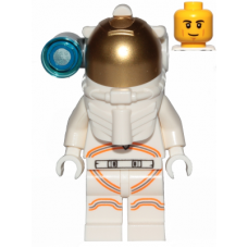 LEGO cty1027 Astronaut - Male, White Spacesuit with Orange Lines, Side Lamp, Smirk and Cheek Lines